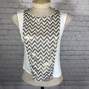Trouve Sequined Tank XS